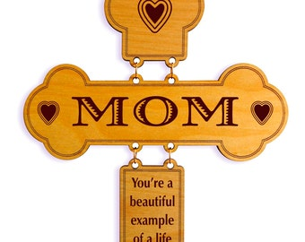 Mom-Mommy-Mother Cross Gift for Mother's Day- Birthday-Easter-Christmas from Daughter-Son, Thank You-Appreciation Gift for Mama - Parent.