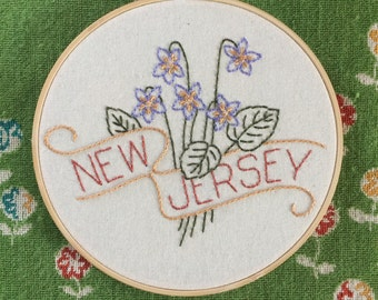New Jersey - Meadow Violet 8'' Hoop