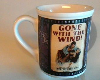 Vintage 1995 Gone With The Wind Coffee Mug, Turner Entertainment, Enesco