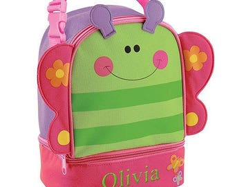 Personalized Butterfly School Backpack Embroidered Name For Girls