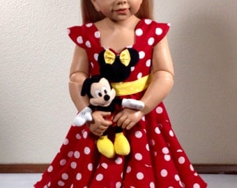 Disney Theme Minnie Mouse Custom Boutique Pageant Dress... Sizes available 12M-10 girls