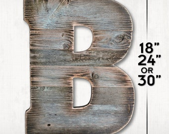 Reclaimed Letter. A to Z. 0 to 9. Rustic Letter. Marquee Letter. Wood Letter. Barnwood Letter