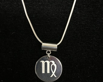 Zodiac Necklace - Sterling Silver - Perfect for Holidays or any ocassion
