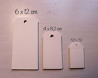 Tag classico segnaposto in 3 diverse dimensioni