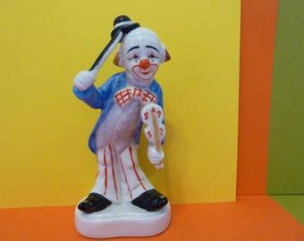 Homco, Clown Figurine, Playing the Violin
