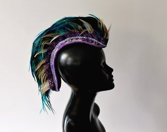Custom short feather mohawk- available in many colors