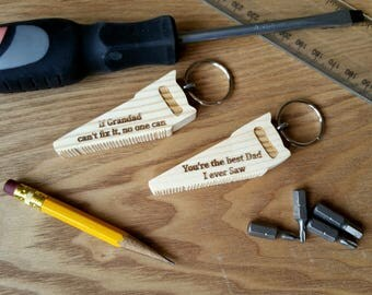 Wooden Saw Keyring