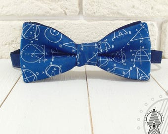Bow tie Geometry, Bow tie blue, Mathemetical bowtie, School bowtie