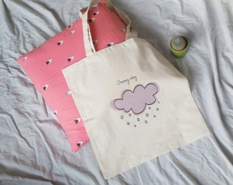 Snowy day tote bag