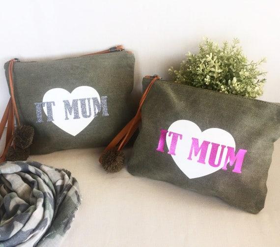 Handbag / shoulder bag / clutch with star It Mum/It Girl