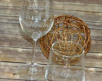 Bridesmaid Wine Glass | Personalized
