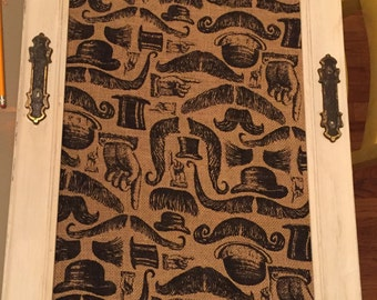 Mustache themed wall decor