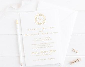 Calligraphy Wedding Invitation -- SAMPLE