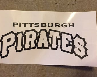 Pittsburgh Pirates Logo Vinyl Decal Many Sizes Available  Buy 2 get 1 free of equal or lesser size!