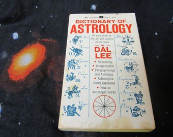 60s Vintage Book Dictionary of Astrology