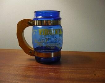 Siesta Ware Blue Mug Virginia Souvenir