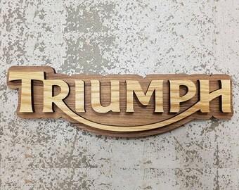 Triumph Plaque Oak on American Walnut