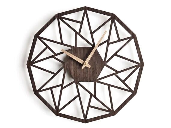 oversized wall clock 30 cm 12 in modern clock geometric