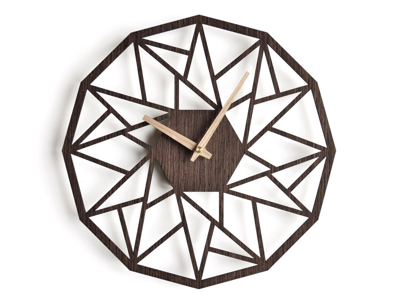 Oversized wall clock 30 cm 12 in modern clock geometric request a custom order and have something made just for you amipublicfo Gallery
