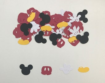 Mickey Mouse Confetti | Mickey Mouse Party | Kids Birthday Decor | Kids Birthday Party| Mickey Mouse Decor | Created by Confetti Betti