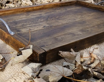 Large Rustic Ottoman Tray / Pallet Wood Tray / 3 finishes available.