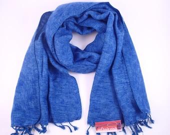 Nepalese Yak Shawl - Indigo blue