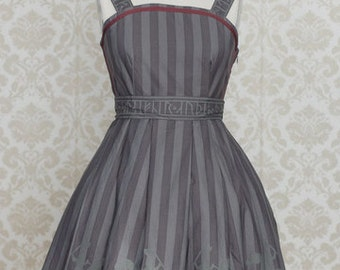 Nordic Lolita Grey Sleipnir Jumperskirt Dress