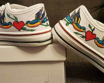 Rockabilly Sneakers, low top sneakers, low top trainers, not converse low tops, not branded sneakers, not converse sneakers, vintage shoes