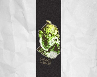 Strigi Swamp Monster Skateboard Grip Tape Griptape Skateboarding