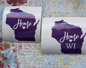 State Decal   Home State Decal   Any State Decal   State Heart Decal   Yeti Decal   Car Decal   Home Decal   Decal   Laptop Decal