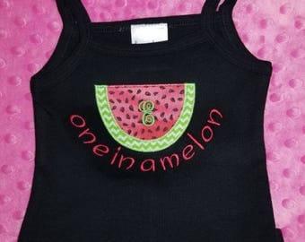 Custom one in a melon tank top SALE! Watermelon tank top