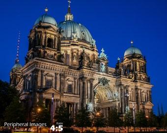 Berlin Photography, Berlin Print Art, Architecture Photography, Berlin Wall Art, Night Photography, Fine Art Photography; Berlin Germany
