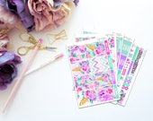 Blossom -- Vertical Weekly Kit-- Matte Planner Stickers
