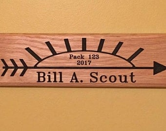 Cub Scout Arrow of Light plaque      Custom made for your Scout    This is the smaller size plaque