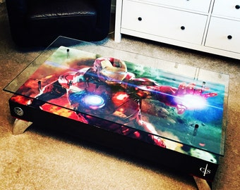 Ironman Coffee Table with Glass top