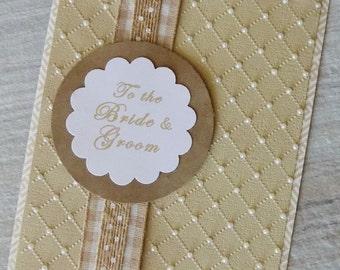 Homemade Wedding Card, Wedding Congratulations, Bride & Groom, Wedding Shower, Bridal, Engagement, Card for Wedding, Elegant Wedding Card