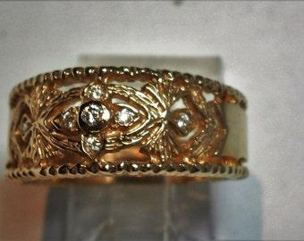 Ring 9 Ct yellow gold set