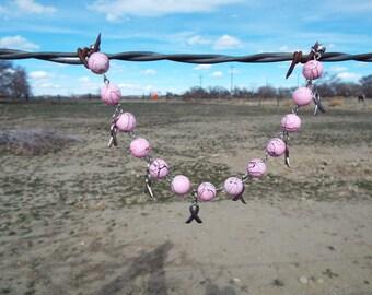 Breast Cancer Awareness Bracelet, Handmade Bracelet, Pink Bracelet, Awareness Bracelet,