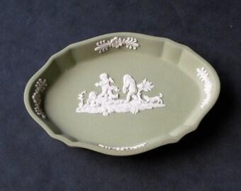 Wedgwood Jasperware Sage Green Pin Dish