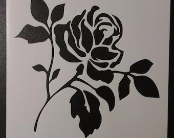 Flower Rose Custom Stencil FAST FREE SHIPPING