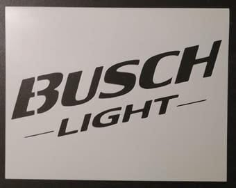 Busch Light Beer Custom Stencil FAST FREE SHIPPING