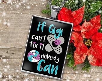 Gigi Necklace, Gift for Gigi Charm, Gigi Charm, Silver Gigi Necklace, Grandma Necklace, Nana Names Necklace, Gigi Christmas