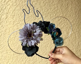 Hades Wire Ears | Hades Inspired | Hades from Hercules | Wire Ears | Floral Headband | Floral Crown