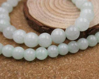 """15.5"""" 10mm/8mm/6mm Natural Stone Beads,Gemstones,Round Spacer Loose Beads(White Color)-G1111"""