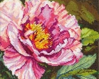 Counted cross stitch kit flower 22x18 cm