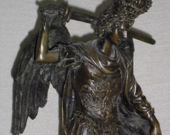 Archangel Gabriel antike Bronzefigur Erzengel Gabriel Naples bronze castings