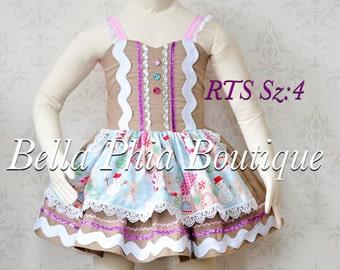 Gingerbread Dress Sz:4 RTS