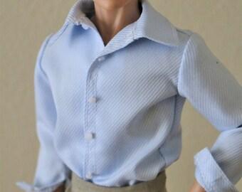 Handmade Ken doll clothes - Dress Shirt (Long Sleeves)