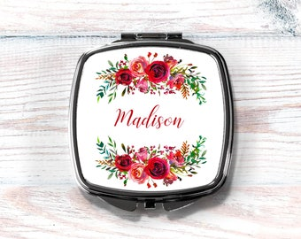 Compact Mirror, Personalized Compact Mirror, Bridesmaid Gift, Maid of Honor Gift, Gift for Mom, Gift for Grandma, Bridal Party Gift,