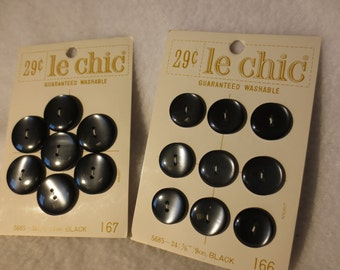 Set of 18 Vintage Buttons on Cards